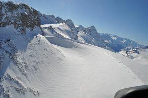 Helikopterflug bei Planurahütte