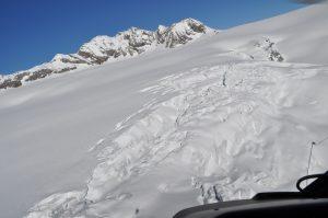 Helikopterflug Gletscher