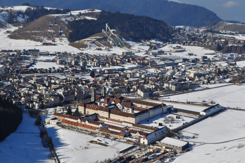 Helikopterflug Kloster Einsiedeln