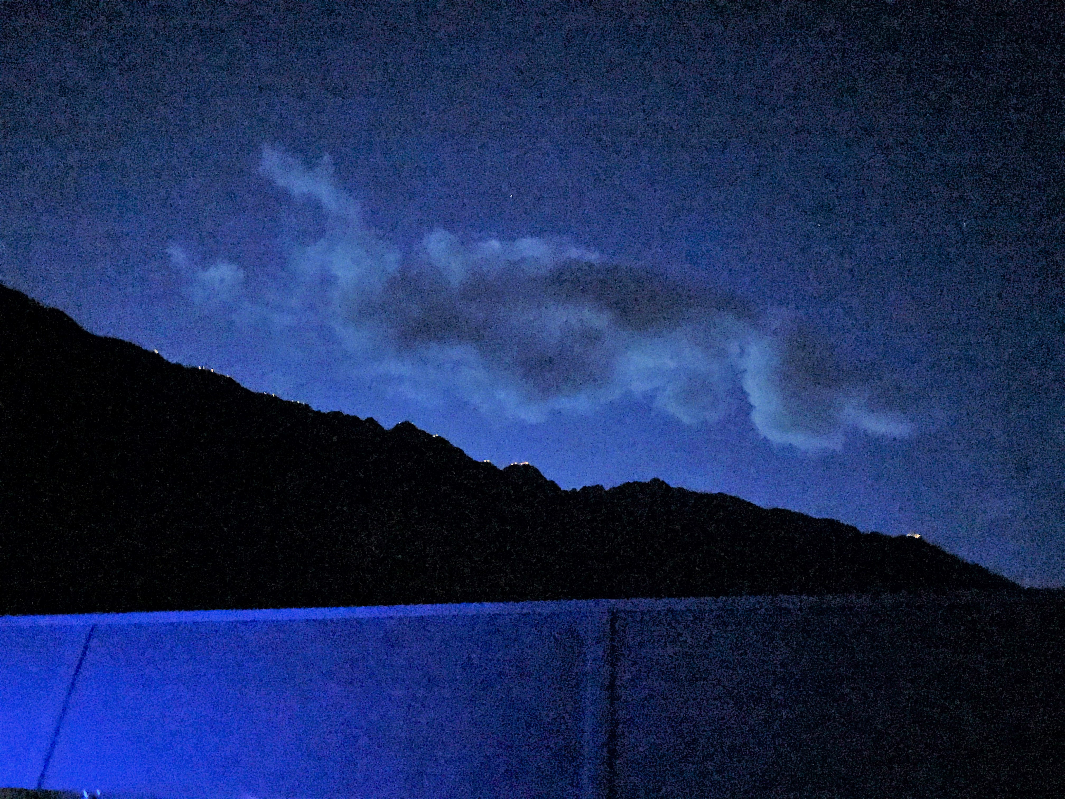 Mountains in Naturns by night