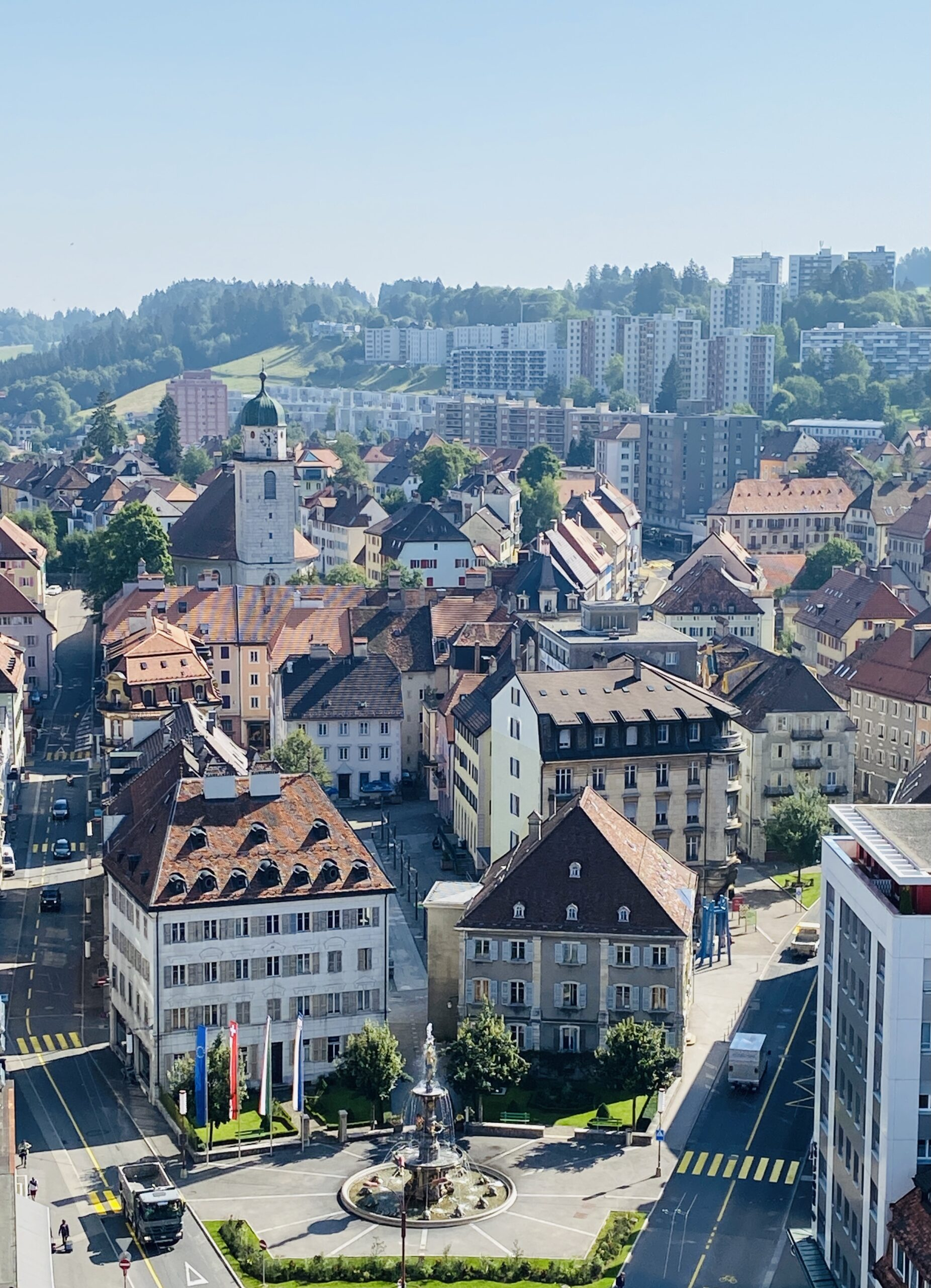 La Chaux-de-Fonds city with history